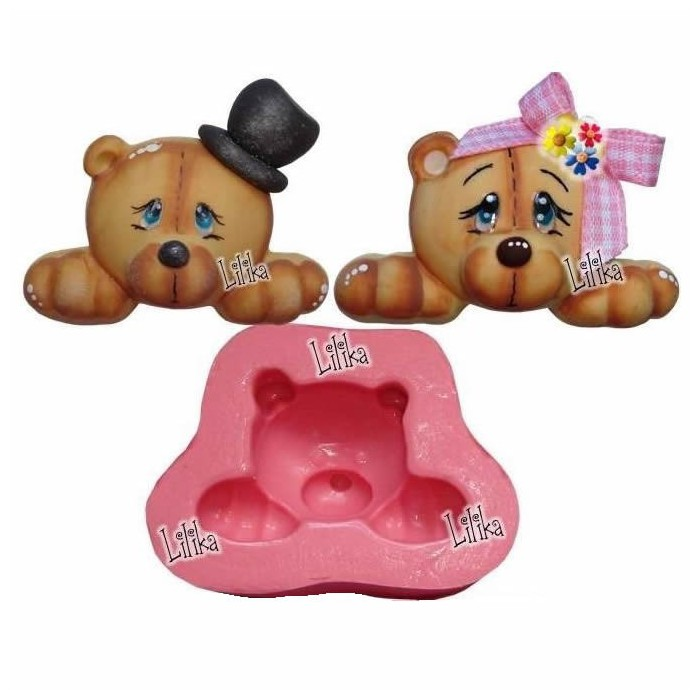 Silicon mould bear with heat/bow