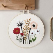 Embroidery Kit Flower & Leaves
