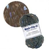 Machine felting wool, Tweed char