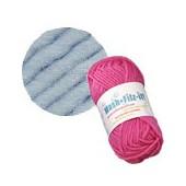 Machine felting wool, light blue