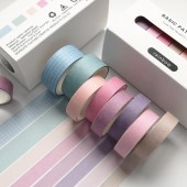 Washi Tape Solid Color, 8x 3m