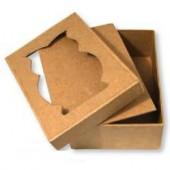 Cardboard box owl, 11x8x4cm