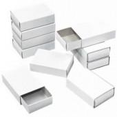 Matchboxes white, 10 pces