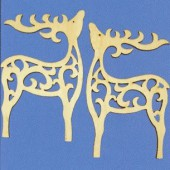 "Ornement en bois ""renne"" 15cm"
