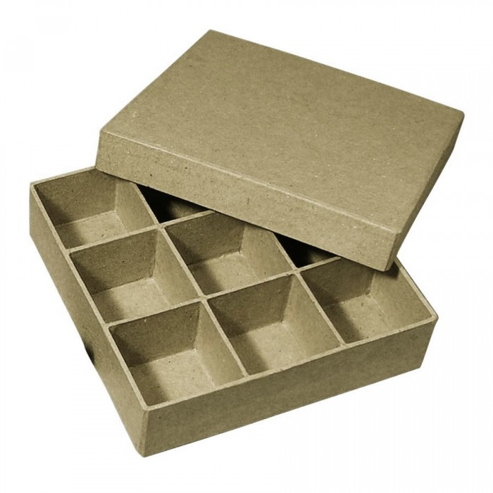 Cardboard Compartment box 14.5x14.5cmx3.5cm