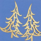 "Wooden ornaments ""fire tree"" 15cm"