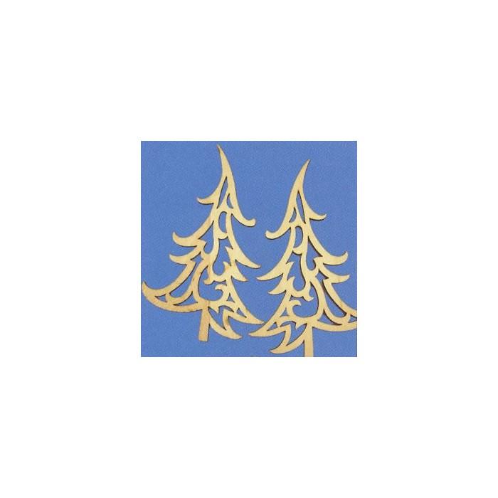 "Wooden ornaments ""fire tree"" 15cm"