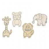 Zoo animal, assorted, 4 pcs
