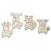 Farm animal, assorted, 4 pcs