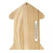 Wooden board home with thermometer 23.5x16.5cm