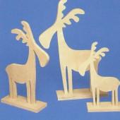 Wooden Deer 25cm