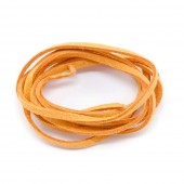 Suede lace flat 3mm/3m, orange