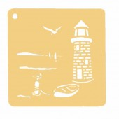 Embossing Stencil Lighthouse