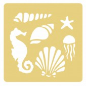 Embossing Stencil Sealife
