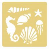 Pochoir à gaufrer animaux marins