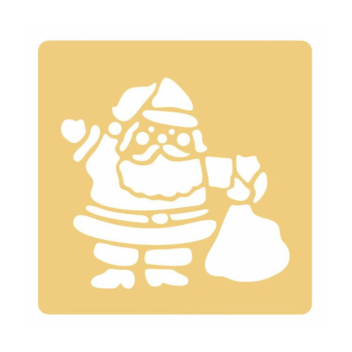 Pochoir Pere Noel.Pochoir Père Noël Creaclic Ch