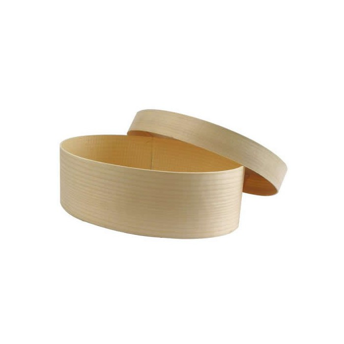 Wooden box oval, Ø115x130mm