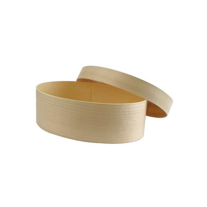 Wooden box oval, Ø85x105mm