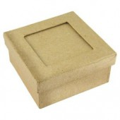 Cardboard passepartout box square