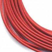 Lanière en cuir, 2mm/1m, rouge