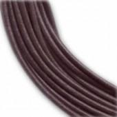 Lanière en cuir, 2mm/1m, brun