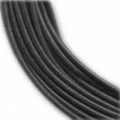 Lanière en cuir, 2mm/1m, noir