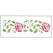 Stencil roses 13x30cm