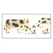 Stencil cows 10x20cm