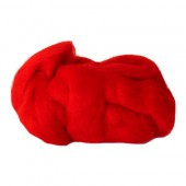 Felting wool, red