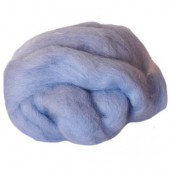 Felting wool, light blue