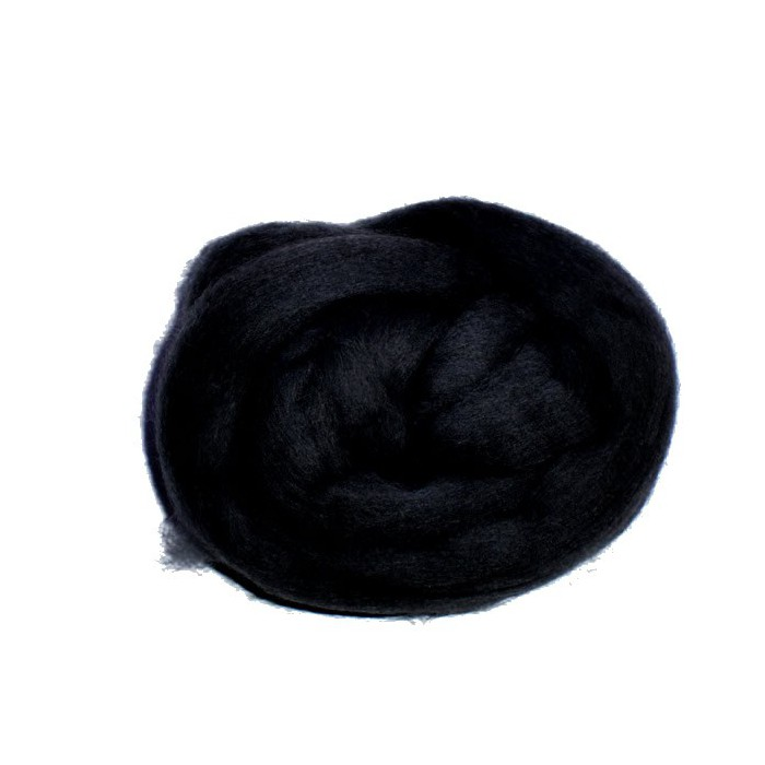 Felting wool, black