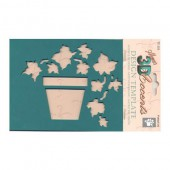 3D Stencil Potted Ivy