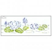 Stencil waterlilies