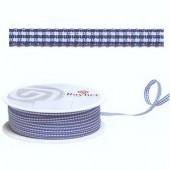 Ribbon vichy blue, 10mm/1 m