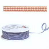 Ribbon vichy orange, 10mm/1 m