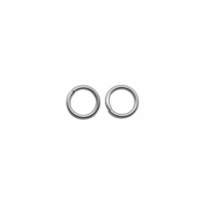 Jump rings platinum coloured, 6mm, 15 pieces