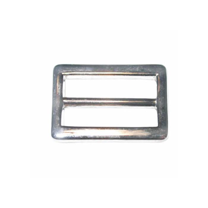 Belt buckle, silver, 2 pces