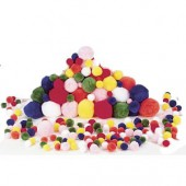 Pompons mix, 100 pièces