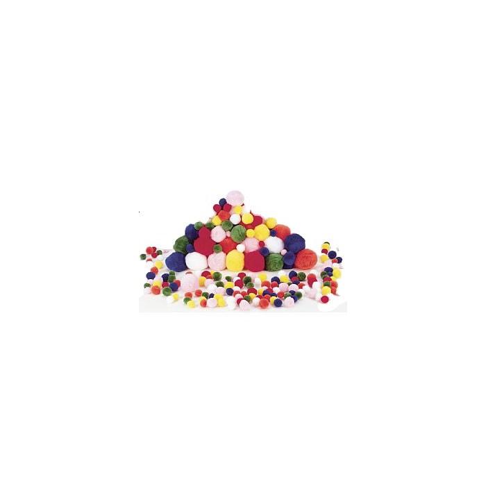 Pompons mix, 100 pces