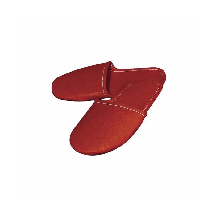 Red Felt Slippers, 24cm