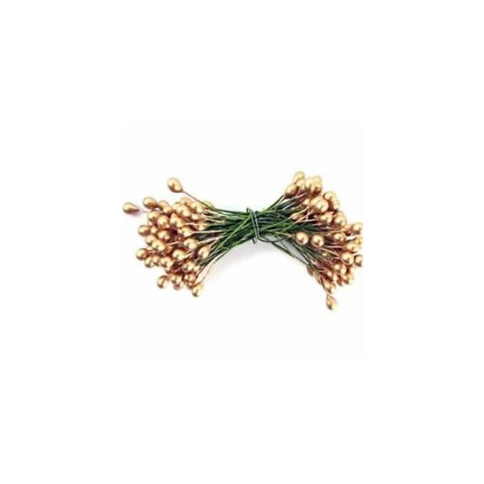 Ilex berries, 6mm, 24 pces, gold