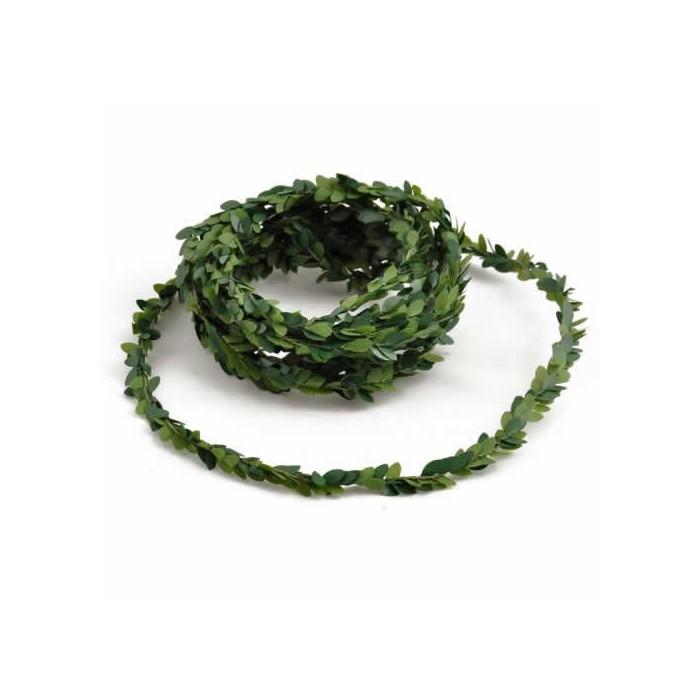 Mini garland of boxwood green, 3m