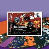 Carton à motifs Halloween, 25x35cm, 300g/m²