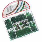Glass beads, green
