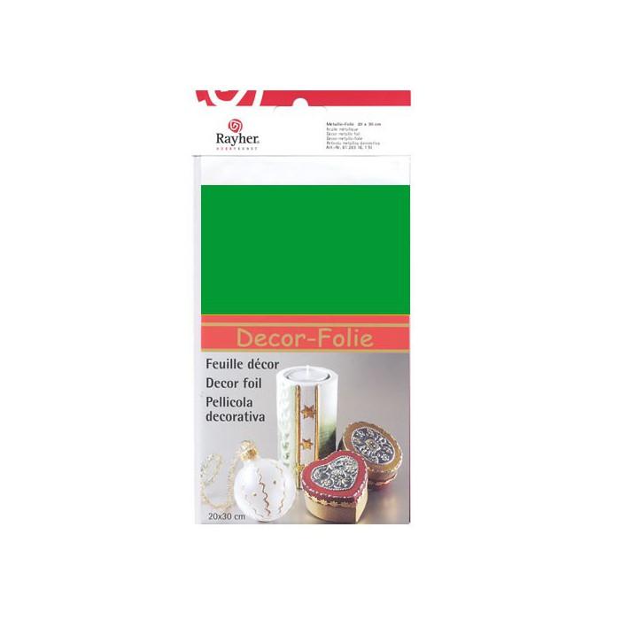 Decor metallic foil, 20x30cm, green