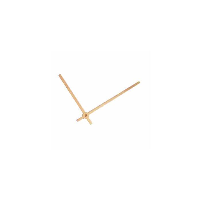 Aluminium gold anodised clock-hands 100/75mm