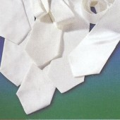 Silk tie pongé 08, 40x9.5cm