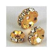Rondelles strass 6mm, 2 pièces