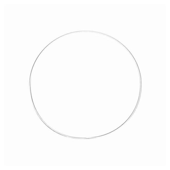 White metal ring Ø15cm