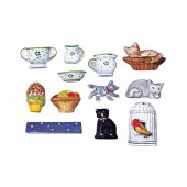 Mould kitchen miniatures, 12 shapes 2-5cm